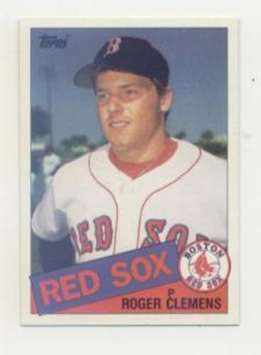 Photo of 1985 Topps #181 Roger Clemens -- Boston Red Sox rookie card