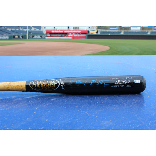 Photo of Alex Gordon Game-Used Broken Bat (4/13/2015 - KC at MIN)