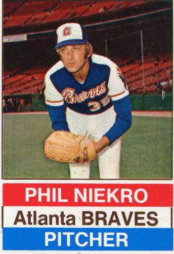 Photo of 1976 Hostess #3 Phil Niekro