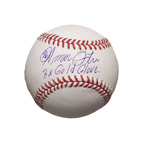 Photo of Amos Otis Autographed Baseball (3X Gold Glove)