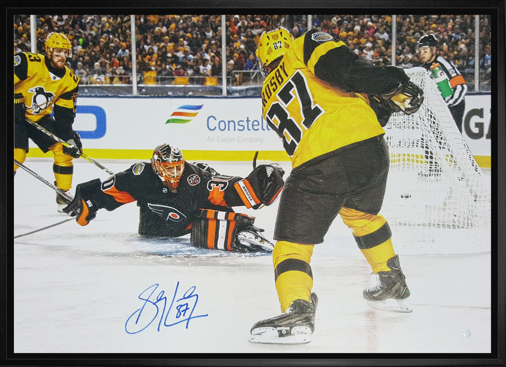 Sidney Crosby - Signed and Framed 20x29 2017 Stadium Series Scoring Canvas