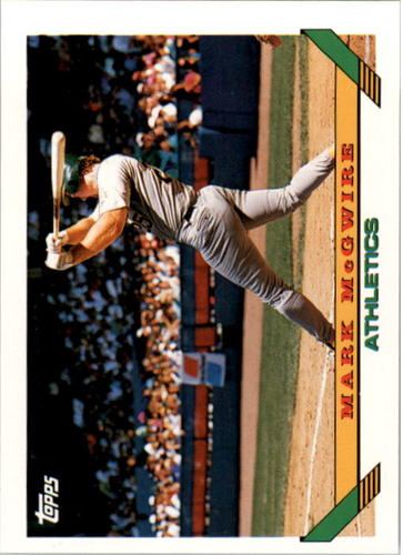 Photo of 1993 Topps #100 Mark McGwire