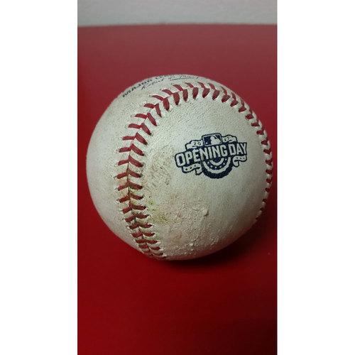Photo of Game-Used Baseball: Opening Day - Ryan Zimmerman Single