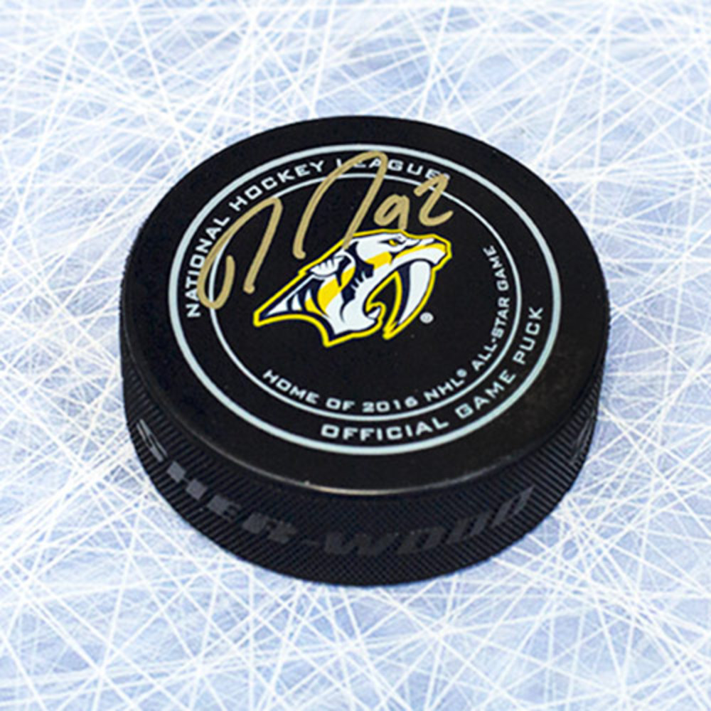 Ryan Johansen Nashville Predators Autographed Official Game Puck