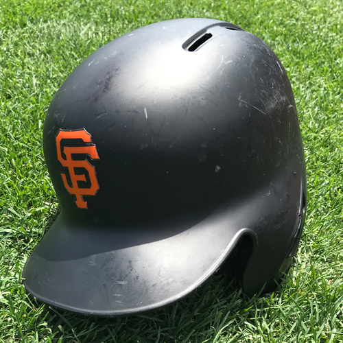 Photo of San Francisco Giants - Game-Used Postseason Helmet - WC & NLDS - Gorkys Hernandez