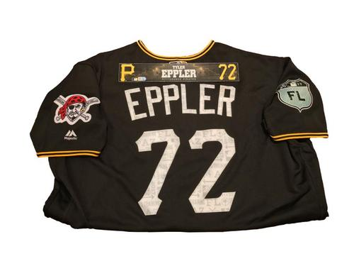 Photo of Tyler Eppler Game-Used Spring Training Jersey and Locker Name Plate