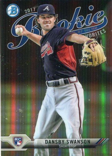 Photo of 2017 Bowman Chrome Rookie of the Year Favorites Refractors #ROYF2 Dansby Swanson