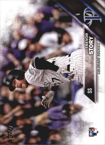 Photo of 2016 Topps Update #US226A Trevor Story Rookie Card -- Rockies post-season