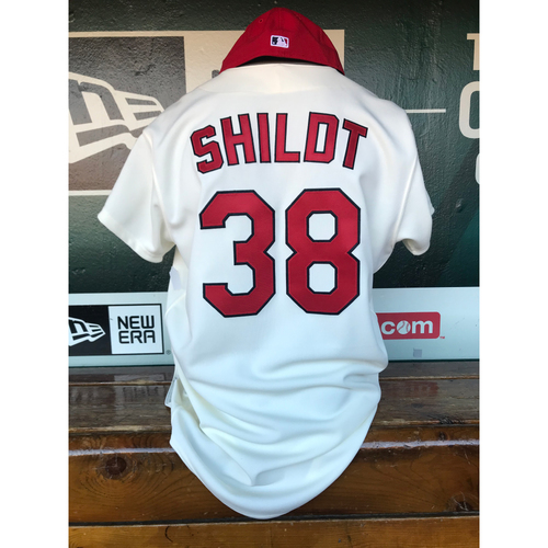 Photo of Cardinals Authentics: Mike Shildt Game Worn 1967 Jersey and Cap