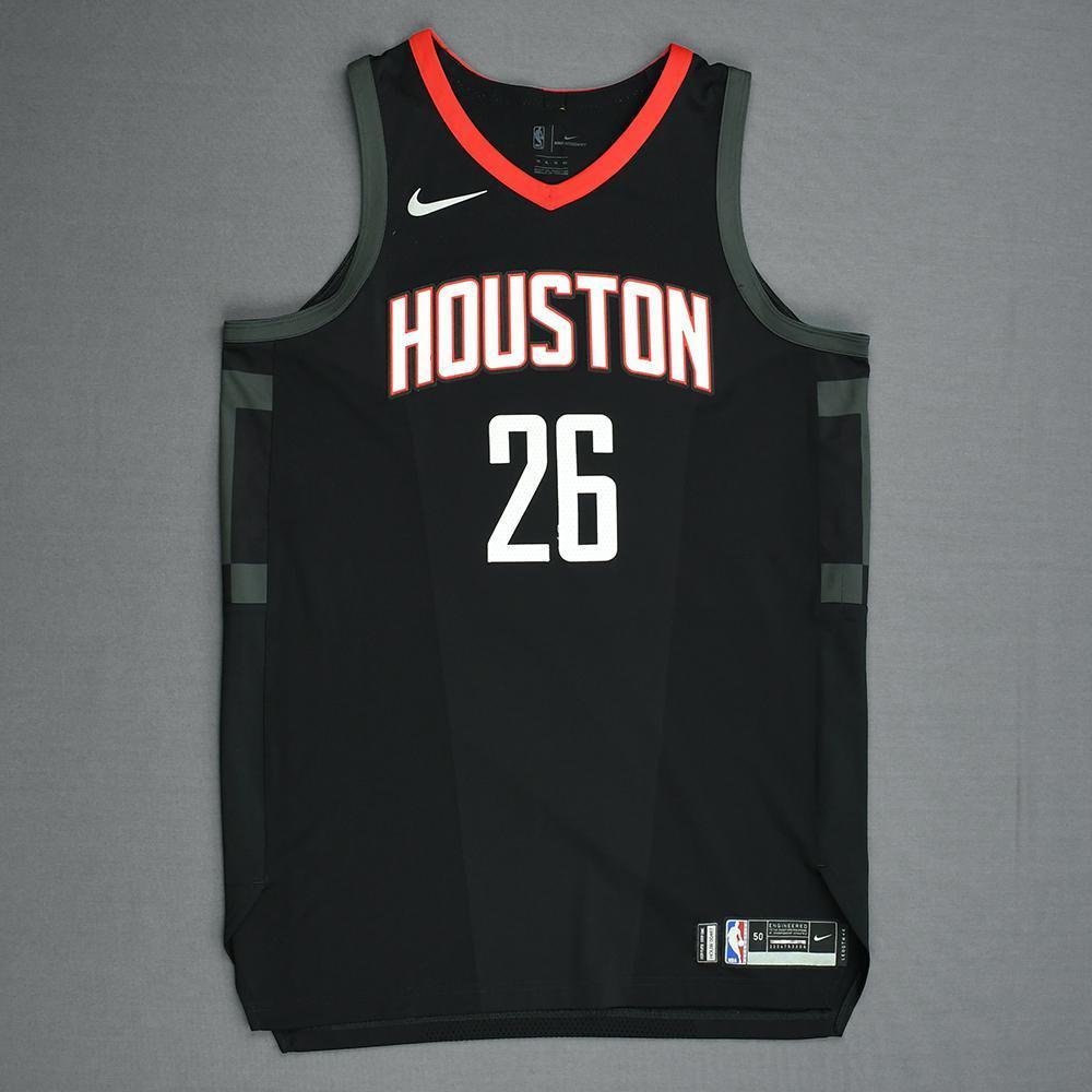 Markel Brown - Houston Rockets - Game-Worn 'Statement' Jersey - 2017-18 Season