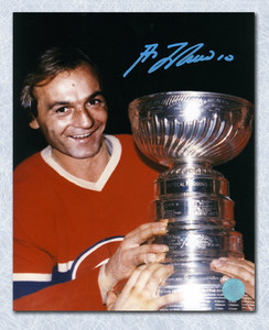 Guy LaFleur Montreal Canadiens Autographed Stanley Cup 8x10Photo