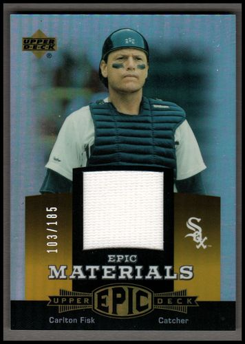 Photo of 2006 Upper Deck Epic Materials Orange #CF2 Carlton Fisk Jsy/185
