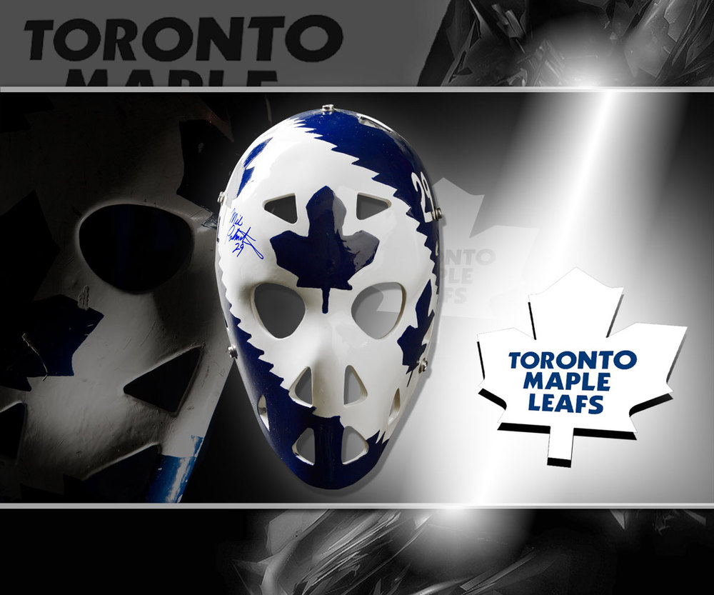 Mike Palmateer Toronto Maple Leafs Autographed Mini Mask