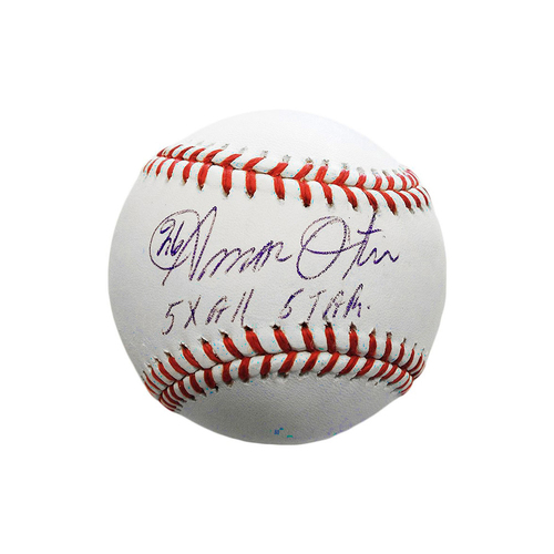 Photo of Amos Otis Autographed Baseball (5x All Star)