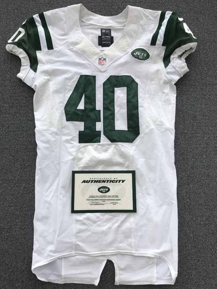 New York Jets - 2013 #40 Tommy Bohanon Game Worn Jersey