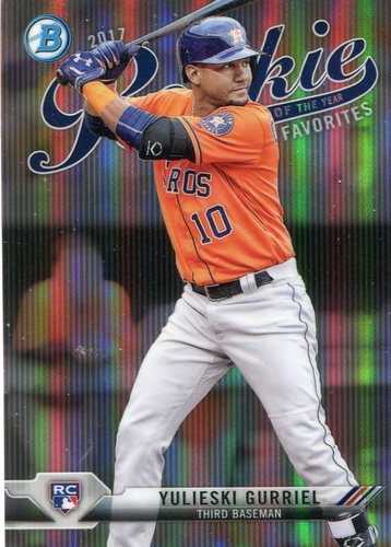 Photo of 2017 Bowman Chrome Rookie of the Year Favorites Refractors #ROYF4 Yulieski Gurriel