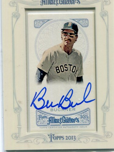 Photo of 2013 Topps Allen and Ginter Autographs #BBU Bill Buckner