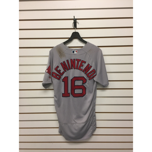 Photo of Andrew Benintendi  Team-Issued August 21, 2017 Road Jersey
