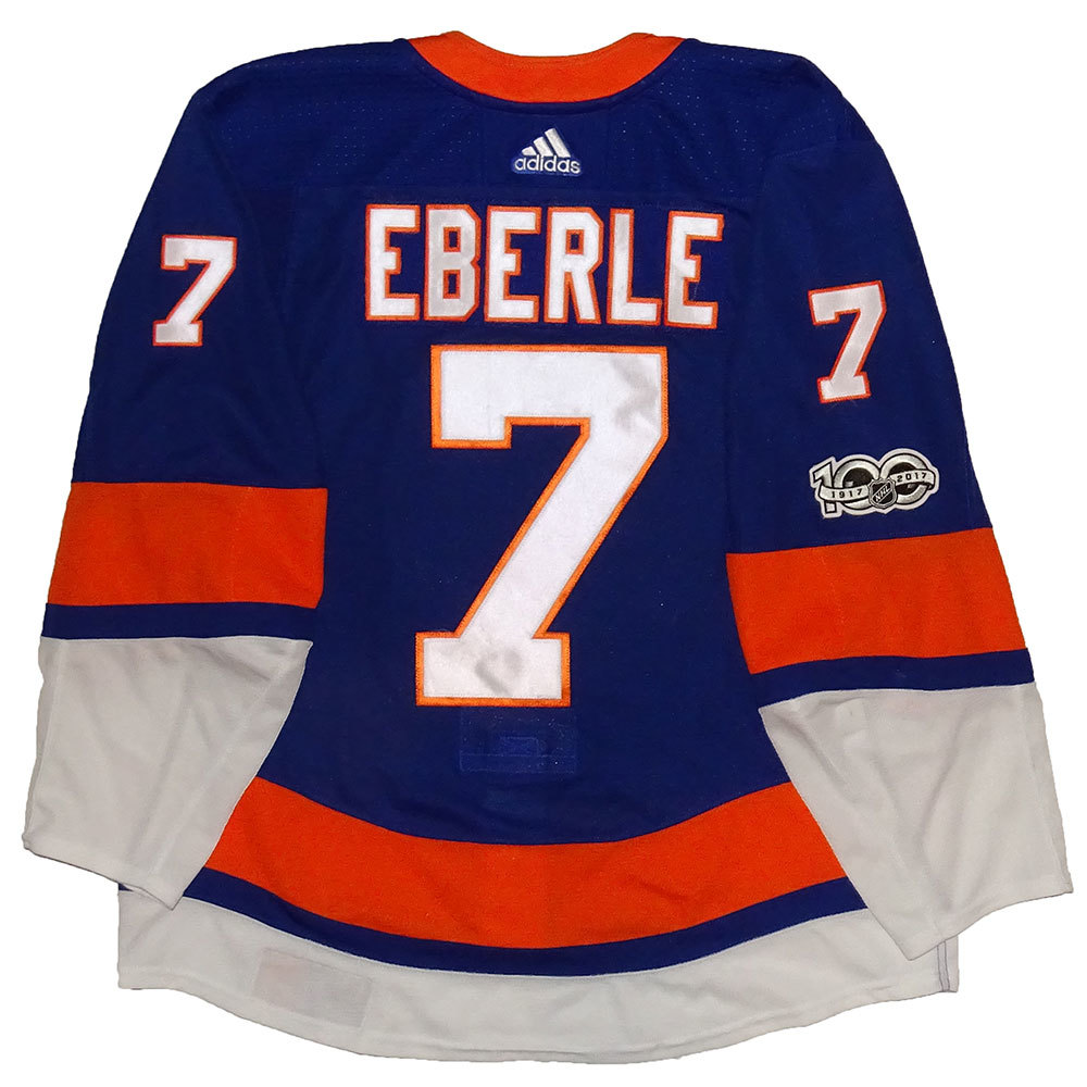 Jordan Eberle - Game Worn Home Jersey - 2017-18 Season - New York Islanders