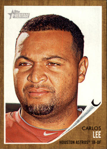 Photo of 2011 Topps Heritage #23 Carlos Lee