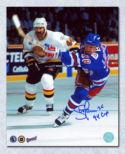 Steve Larmer 94 Stanley Cup Game Autographed 8x10 Photo
