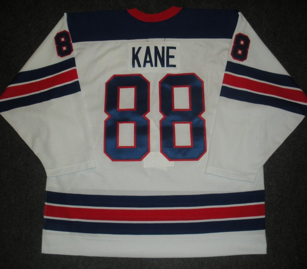 Patrick Kane - Sochi 2014 - Winter Olympic Games - Team USA Throwback Game-Worn Jersey - Worn in 2nd and 3rd Periods vs. Slovenia, 2/16/14