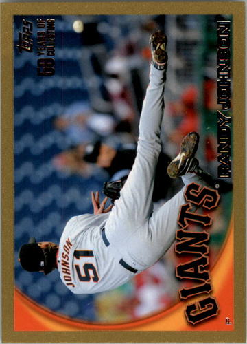 Photo of 2010 Topps Gold Border #220 Randy Johnson