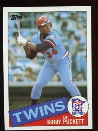 Photo of 1985 Topps #536 Kirby Puckett -- Minnesota Twins rookie card