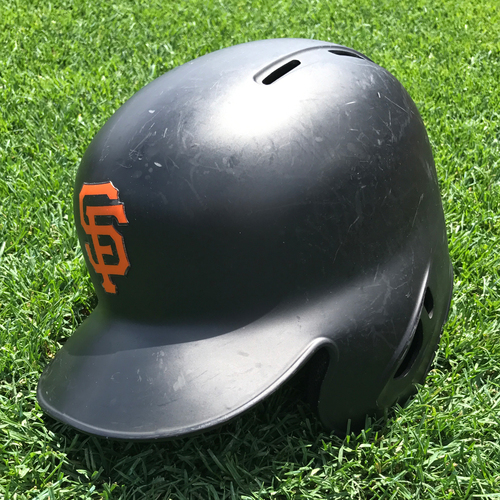 Photo of San Francisco Giants - Game-Used Postseason Helmet - WC & NLD - Trevor Brown