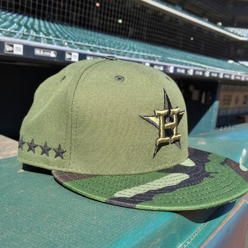 Photo of Game-Used George Springer Memorial Day Cap