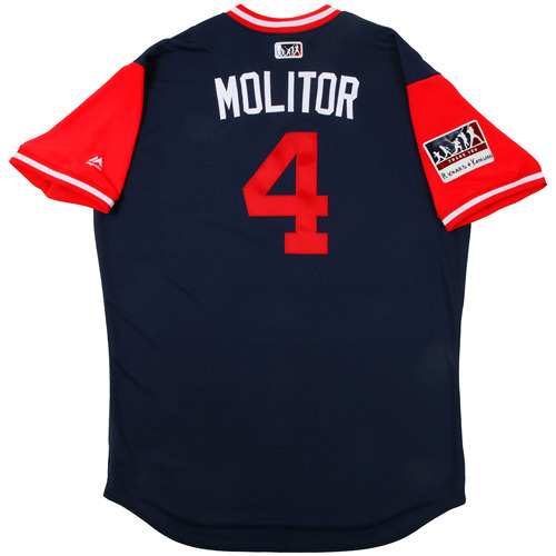 "Photo of Paul ""Molitor"" Molitor Game-Used Players Weekend Jersey"