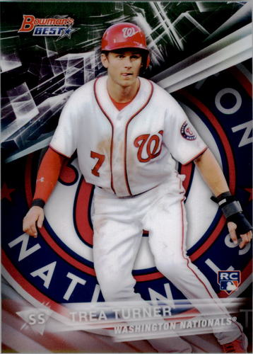 Photo of 2016 Bowman's Best #58 Trea Turner Rookie Card -- Nationals post-season