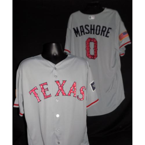 Photo of Justin Mashore 2017 Game-Used Stars and Stripes Jersey