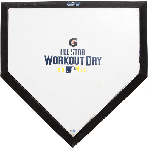 Photo of 2016 ASG Workout Day: Game-Used Commemorative Home Plate