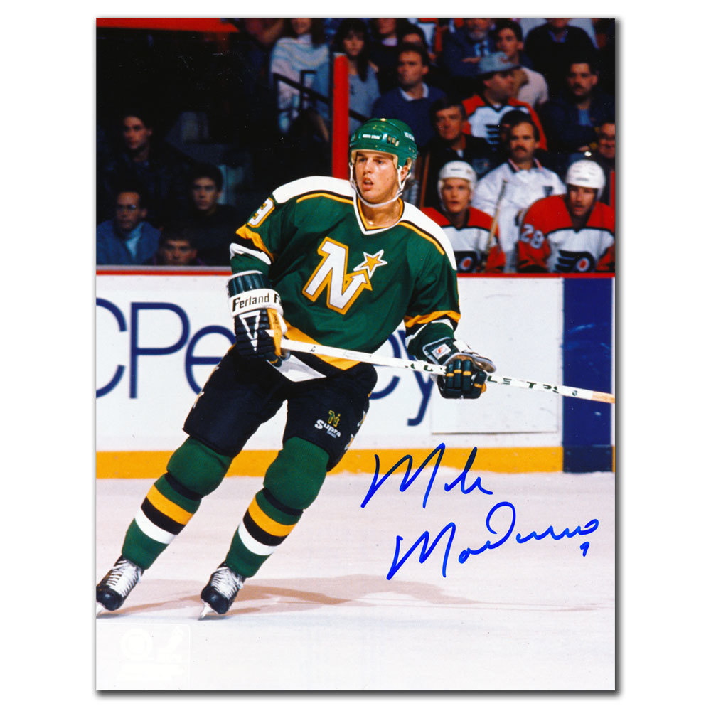 Mike Modano Dallas Stars RETRO Autographed 8x10