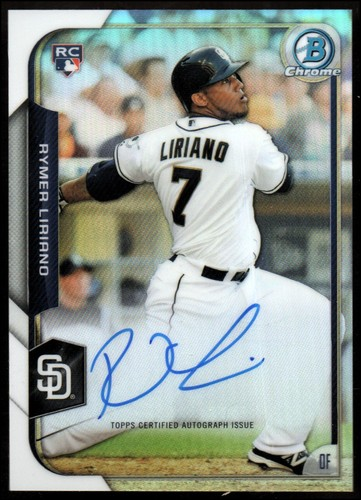 Photo of 2015 Bowman Chrome Rookie Autographs Refractors #BCARRL Rymer Liriano