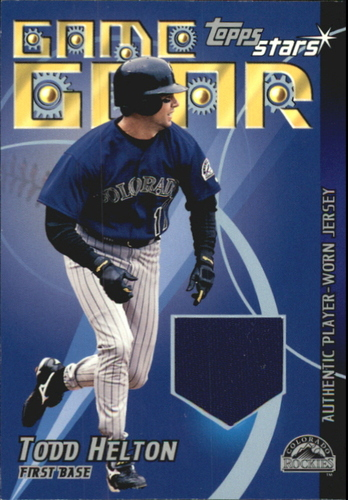 Photo of 2001 Topps Stars Game Gear Jerseys #TSRTH Todd Helton B