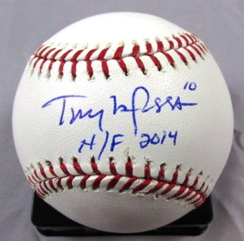 """Photo of Tony LaRussa Autographed Official Major League Baseball with """"H/F 2014"""" Inscription"""