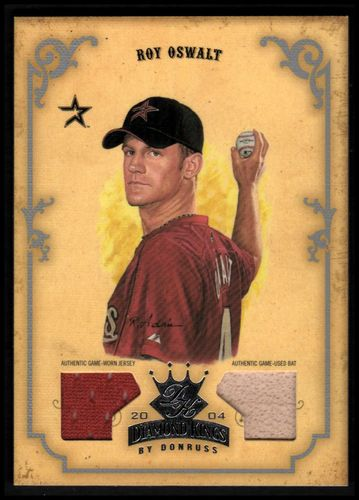 Photo of 2004 Diamond Kings DK Materials Silver #134 Roy Oswalt Bat-Jsy/50
