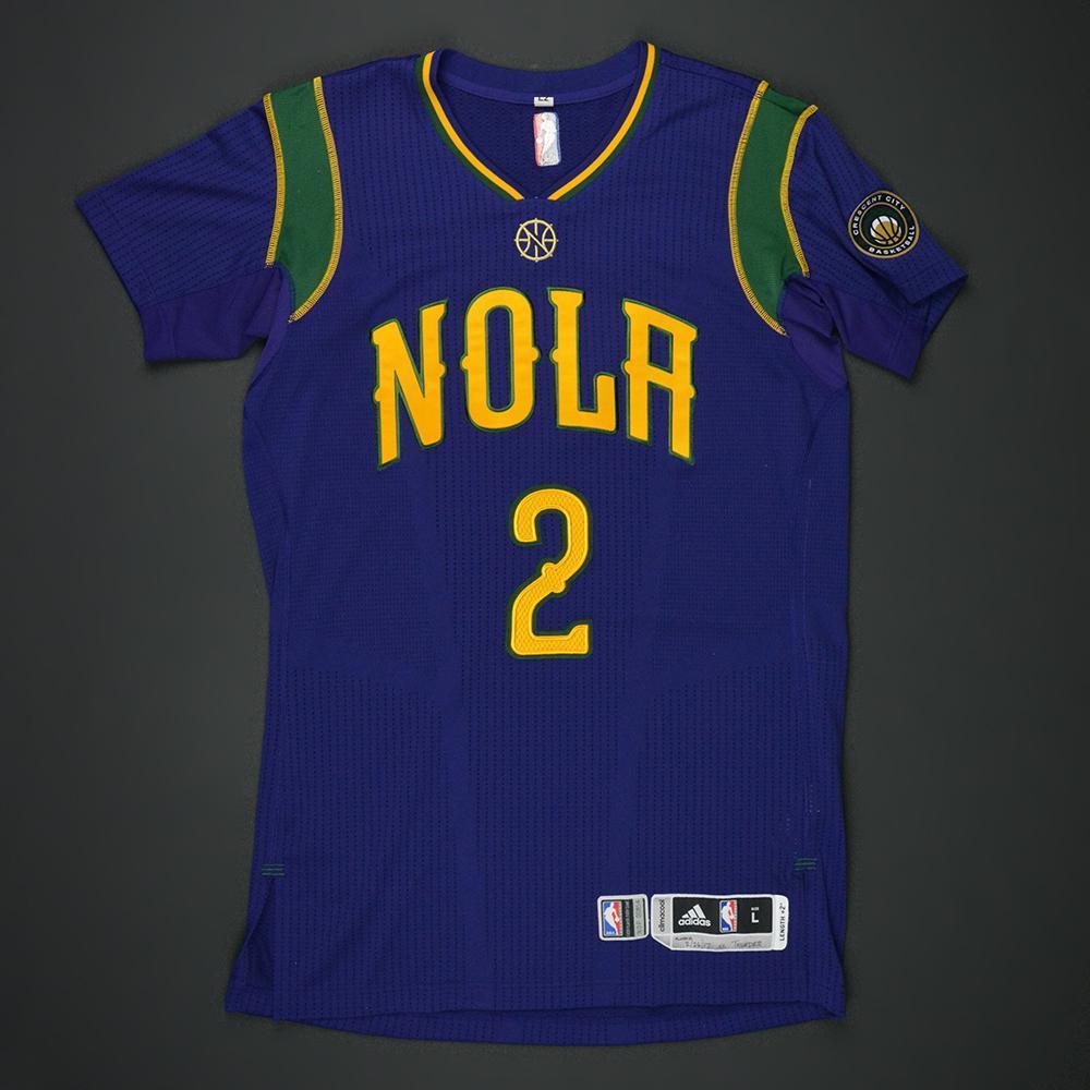 Tim Frazier - New Orleans Pelicans - Purple 'Mardi Gras' Game-Worn Jersey - 2016-17 Season