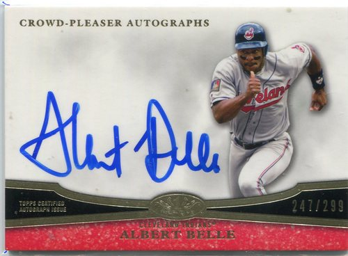 Photo of 2013 Topps Tier One Crowd Pleaser Autographs #AB2 Albert Belle 247/299