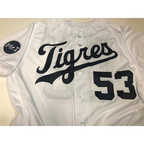 Photo of Game-Used Warwick Saupold Fiesta Tigres Jersey
