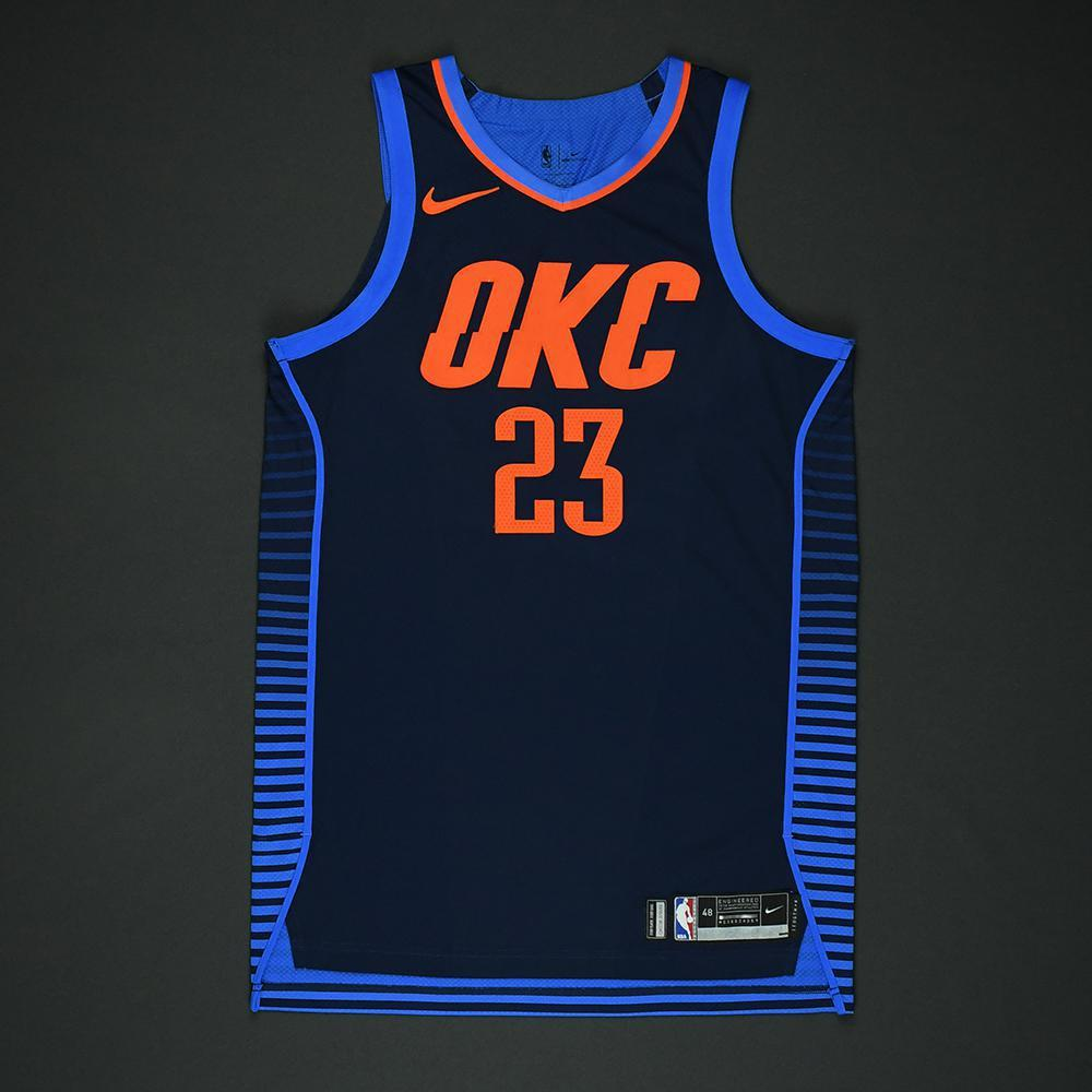 Terrance Ferguson - Oklahoma City Thunder - NBA Christmas Day '17 Game-Worn Jersey - Dressed, Did Not Play