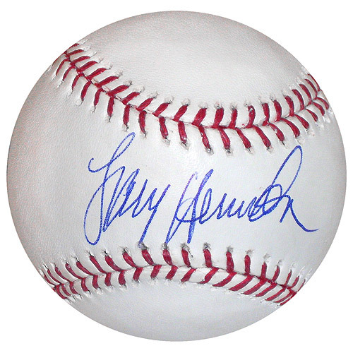 Photo of Detroit Tigers Larry Herndon Autographed Baseball