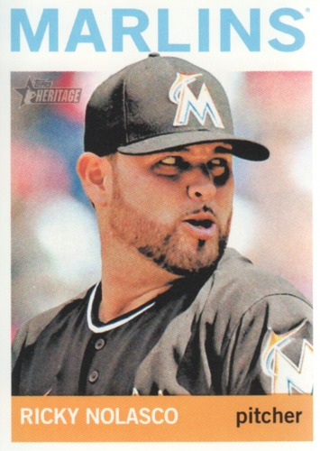 Photo of 2013 Topps Heritage #285 Ricky Nolasco