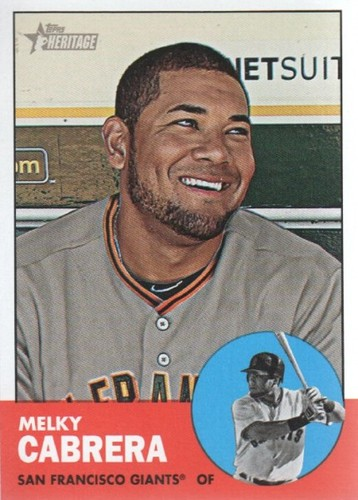 Photo of 2012 Topps Heritage #157 Melky Cabrera
