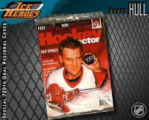 BRETT HULL 700 Goals Beckett Hockey Magazine - Detroit Red Wings