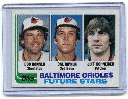 Photo of 1982 Topps #21 Cal Ripken -- Baltimore Orioles rookie card