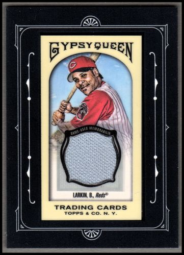 Photo of 2011 Topps Gypsy Queen Framed Mini Relics #BL Barry Larkin JERSEY