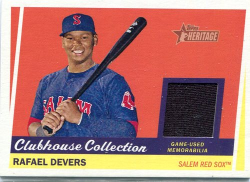 Photo of 2016 Topps Heritage Minors Clubhouse Collection Relics Rafael Devers